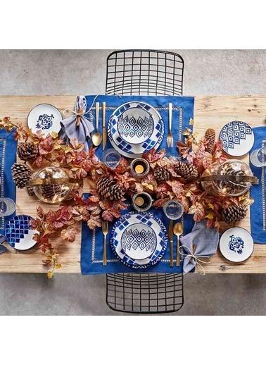 Bella Maison Blue Tile 48 Parça 12 Kişilik Yemek Takımı Renkli